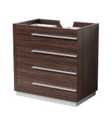 "Fresca Livello 30"" Walnut Modern Bathroom Cabinet"