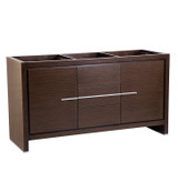"Fresca Allier 60"" Wenge Brown Modern Double Sink Bathroom Cabinet"