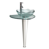 "Fresca Netto 24"" Modern Glass Bathroom Pedistal w/ Countertop"