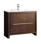 "Fresca Allier 40"" Wenge Brown Modern Bathroom Cabinet w/ Sink"