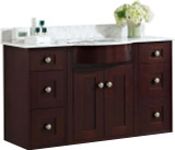 "American Imaginations Tiffany 48"" Birch Wood-Veneer Single Sink Vanity Set in Coffee"