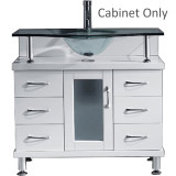 "Virtu USA Vincente 36"" Single Bathroom Cabinet only in White"