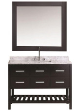 "Design Element London 48"" Single Sink Vanity Set in Espresso Finish 