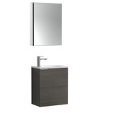 "Fresca Valencia 20"" Gray Oak Wall Hung Modern Bathroom Vanity Set  w/ Medicine Cabinet"
