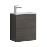 "Fresca Valencia 20"" Gray Oak Wall Hung Modern Bathroom Vanity"