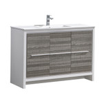 "Fresca Allier Rio 48"" Ash Gray Single Sink Modern Bathroom Cabinet w/ Sink"