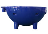 Alfi Brand Dark Blue Round Fiberglass Portable Outdoor Hot Tub | FireHotTub-DB