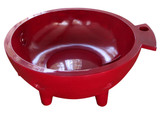 Alfi Brand Red Round Fiberglass Portable Outdoor Hot Tub | FireHotTub-RW