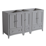 Fresca Oxford 60 Gray Traditional Double Sink Bathroom Cabinets