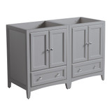 Fresca Oxford 48 Gray Traditional Double Sink Bathroom Cabinets