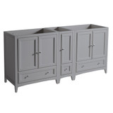 Fresca Oxford 71 Gray Traditional Double Sink Bathroom Cabinets