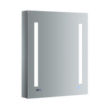 "Fresca Tiempo 24"" Wide x 30"" Tall Bathroom Medicine Cabinet w/ LED Lighting & Defogger"