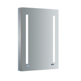 "Fresca Tiempo 24"" Wide x 36"" Tall Bathroom Medicine Cabinet w/ LED Lighting & Defogger"