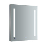 "Fresca Tiempo 30"" Wide x 36"" Tall Bathroom Medicine Cabinet w/ LED Lighting & Defogger"