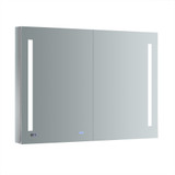 "Fresca Tiempo 48"" Wide x 36"" Tall Bathroom Medicine Cabinet w/ LED Lighting & Defogger"