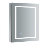 "Fresca Spazio 24"" Wide x 30"" Tall Bathroom Medicine Cabinet w/ LED Lighting & Defogger"