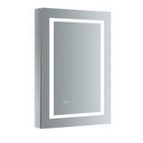 "Fresca Spazio 24"" Wide x 36"" Tall Bathroom Medicine Cabinet w/ LED Lighting & Defogger"