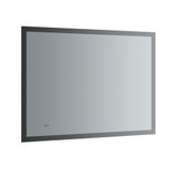 "Fresca Angelo 48"" Wide x 36"" Tall Bathroom Mirror w/ Halo Style LED Lighting and Defogger"