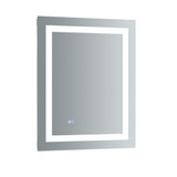 "Fresca Santo 24"" Wide x 30"" Tall Bathroom Mirror w/ LED Lighting and Defogger"