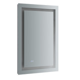 "Fresca Santo 24"" Wide x 36"" Tall Bathroom Mirror w/ LED Lighting and Defogger"