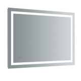 "Fresca Santo 48"" Wide x 36"" Tall Bathroom Mirror w/ LED Lighting and Defogger"