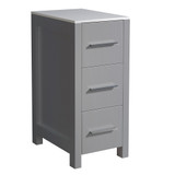 Fresca Torino 12 Gray Bathroom Linen Side Cabinet