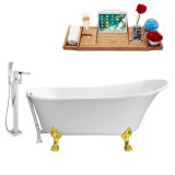 """Streamline 59"""" Clawfoot Faucet and Tub Set 