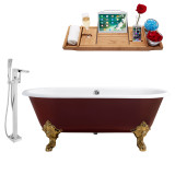 Streamline 69 Faucet and Cast Iron Tub Set | RH5000GLD