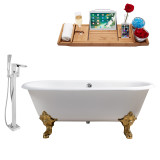 Streamline 69 Faucet and Cast Iron Tub Set | RH5001GLD