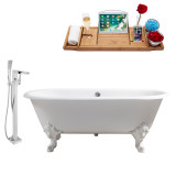 Streamline 69 Faucet and Cast Iron Tub Set | RH5001WH