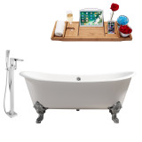 Streamline 72 Faucet and Cast Iron Tub Set | RH5020CH