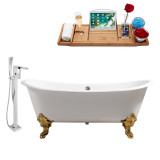 Streamline 72 Faucet and Cast Iron Tub Set | RH5020GLD