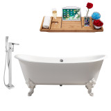 Streamline 72 Faucet and Cast Iron Tub Set | RH5020WH