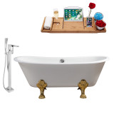 Streamline 67 Faucet and Cast Iron Tub Set | RH5061GLD