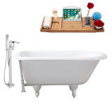 Streamline 48 Faucet and Cast Iron Tub Set | RH5101WH