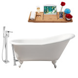 Streamline 60 Faucet and Cast Iron Tub Set | RH5120WH