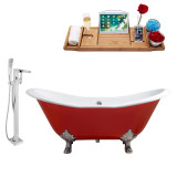Streamline 72 Faucet and Cast Iron Tub Set | RH5160CH