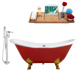 Streamline 72 Faucet and Cast Iron Tub Set | RH5160GLD