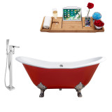 Streamline 61 Faucet and Cast Iron Tub Set | RH5161CH