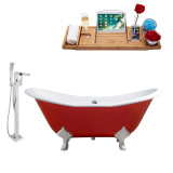 Streamline 61 Faucet and Cast Iron Tub Set | RH5161WH