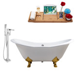 Streamline 72 Faucet and Cast Iron Tub Set | RH5162GLD