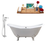 Streamline 72 Faucet and Cast Iron Tub Set | RH5162WH