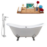 Streamline 61 Faucet and Cast Iron Tub Set | RH5163CH