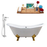 Streamline 61 Faucet and Cast Iron Tub Set | RH5163GLD