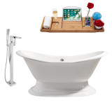 Streamline 61 Faucet and Cast Iron Tub Set | RH5201