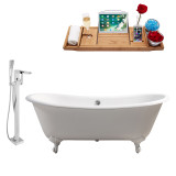 Streamline 71 Faucet and Cast Iron Tub Set | RH5240WH