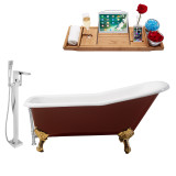 Streamline 66 Faucet and Cast Iron Tub Set | RH5280GLD