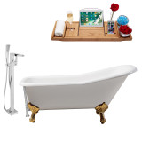 Streamline 66 Faucet and Cast Iron Tub Set | RH5281GLD