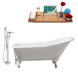 Streamline 66 Faucet and Cast Iron Tub Set | RH5281WH