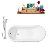 Streamline 67 Faucet and Cast Iron Tub Set | RH5420GLD
